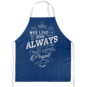 Baking Slogan Apron - Funny People Who Eat Julia Child Cooking Quote - Gift For Passionate Bakers Or Eaters - Summer Barbecue BBQ Apron Christmas Dinner Pinny