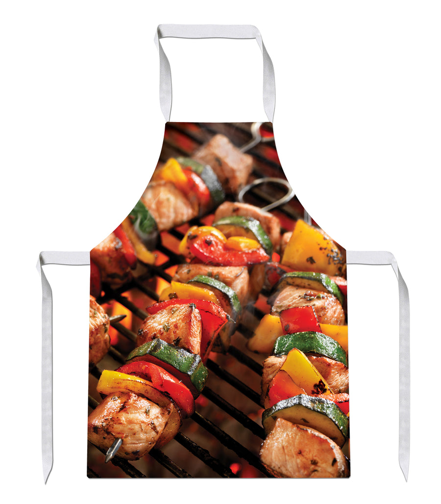 BBQ Kebabs Mens All Over Baking Novelty Funny Bake Cook APRON Kitchen Tabard 57