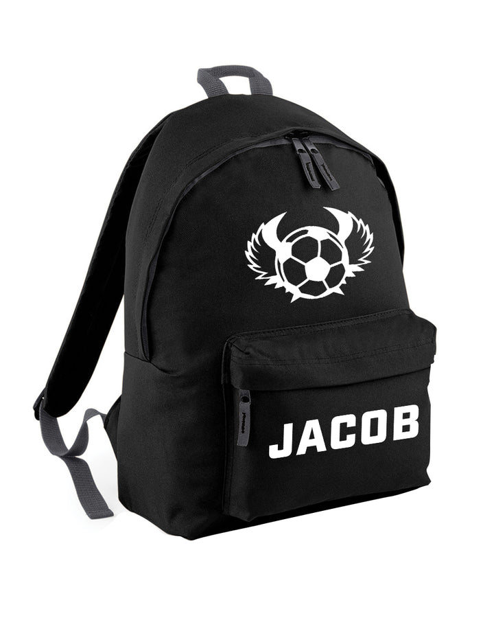 Football Custom Name Bag - Personalised Boys Backpack Perfect For School Nursery Or College Rucksack Backpack