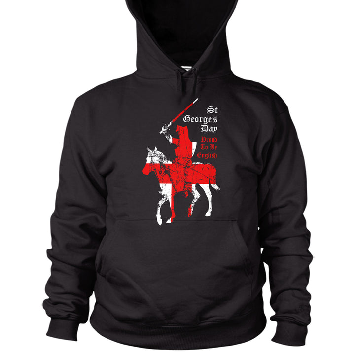 St George's Day Distressed Flag Proud To Be English Hoodie Mens Women Kid L35