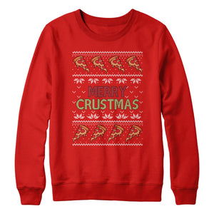 Merry Crustmas Sweatshirt Pizza Christmas Jumper L370