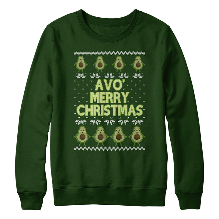 Avo Merry Christmas Sweatshirt Avocado Christmas Jumper L371