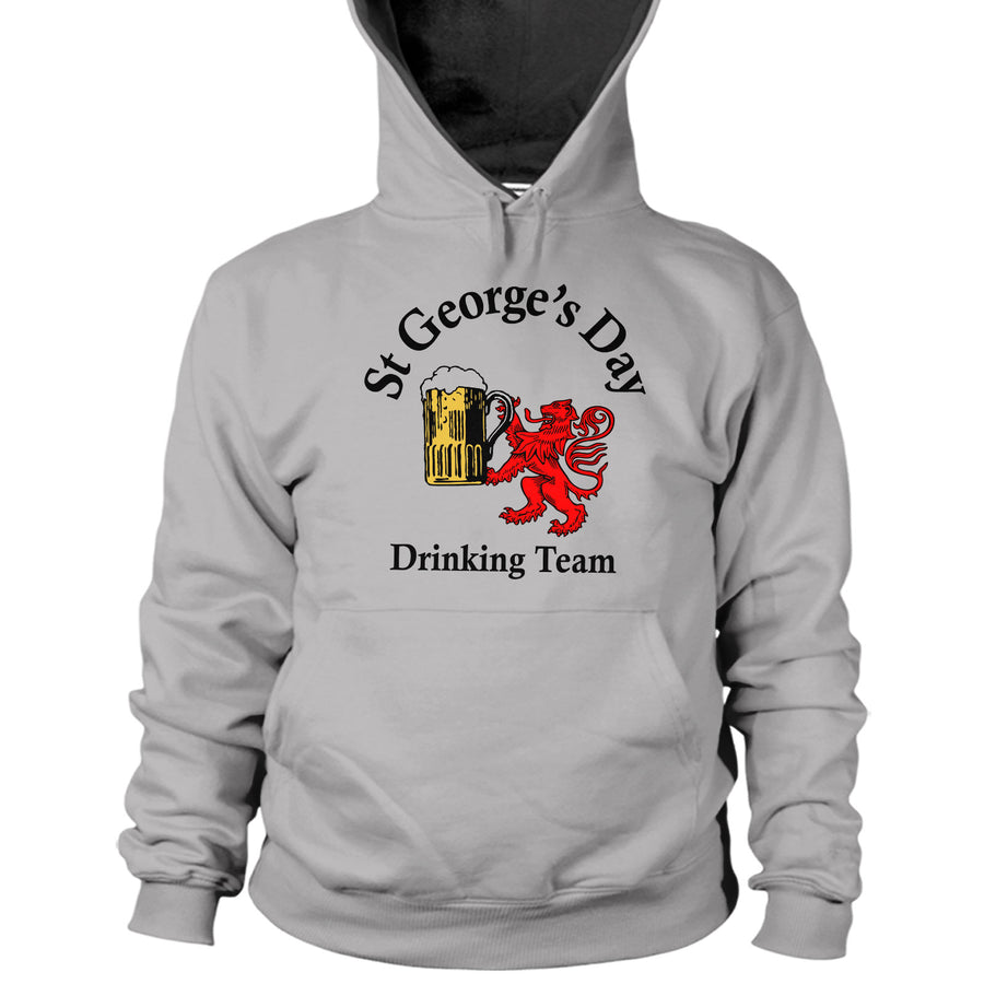 St Georges Day Drinking Team Hoodie England Lion English Funny Patron Saint UK