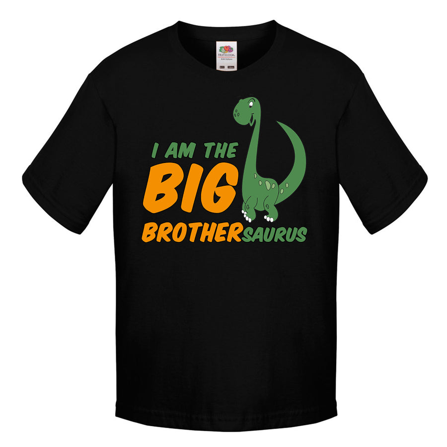 I Am The Big Brother Dinosaur T Shirt Boys Older New Bro Sibling Clothing L80
