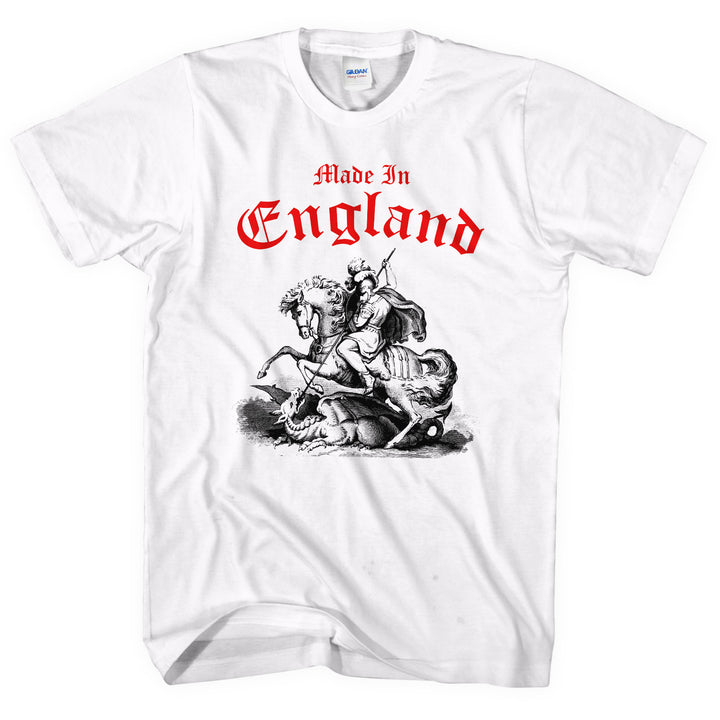 Made In England St George Slaying Dragon T SHIRT Day Festival Party Top English