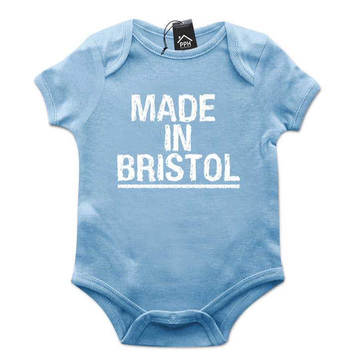 Made In Bristol Baby Grow Cute Hometown Body Play Suit Novelty Born 634