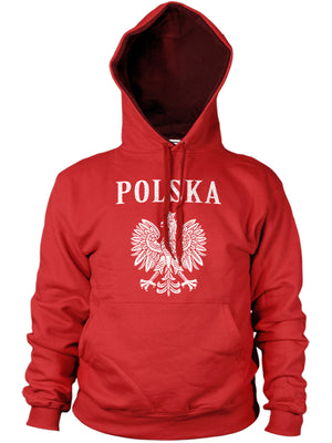 Polska Eagle Distressed Hoodie Men Women Poland Polish Football Fan Gift Kids