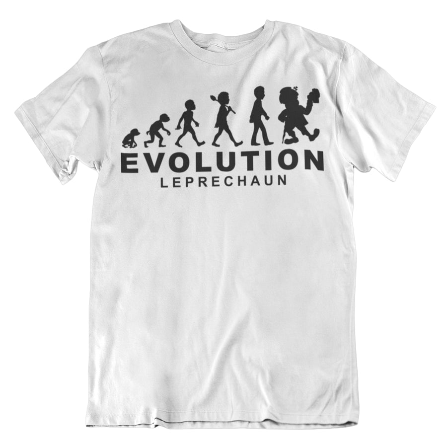 St Patricks Day Evolution of a Leprechaun Human Evolution Graph Tshirt