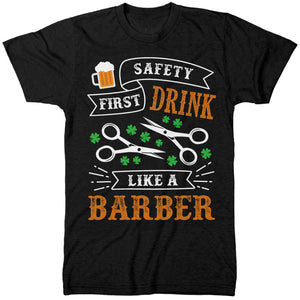 Drink Like A Barber Tshirt - Gift for a Hairdresser