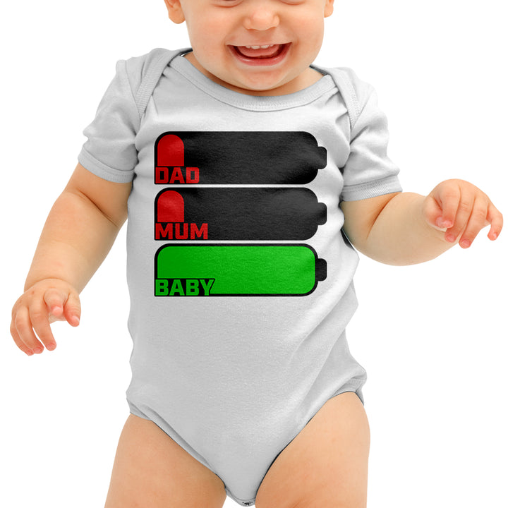Full Battery No Battery Funny Baby Grow - Energetic Babies Gift For Boys And Girls Baby Clothes - Funny Baby Outfit Present For Baby Shower Or Their Babies Half Birthday Or First Birthday - Baby Bodysuit