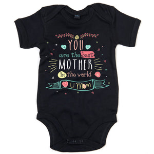 Mothers Day Babygrow - Gift For Mummy From Baby Available in Sizes 3-6 Months to 12-18 Months