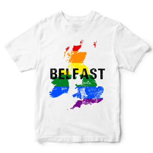 Gay Pride Belfast T Shirt - Celebrate Belfasts Pride Event 2019