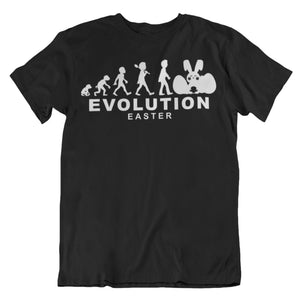 Easter Bunny Evolution Human Cycle Chart T Shirt - Cool Funny Rabbit Jesus Christ Gift Idea