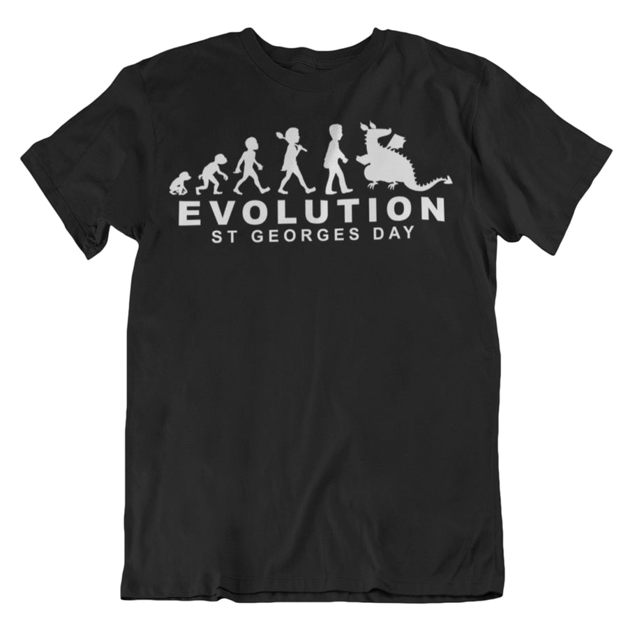 St George's Day Evolution Human Cycle Chart T Shirt - Cool Saint George England Feast Gift Idea