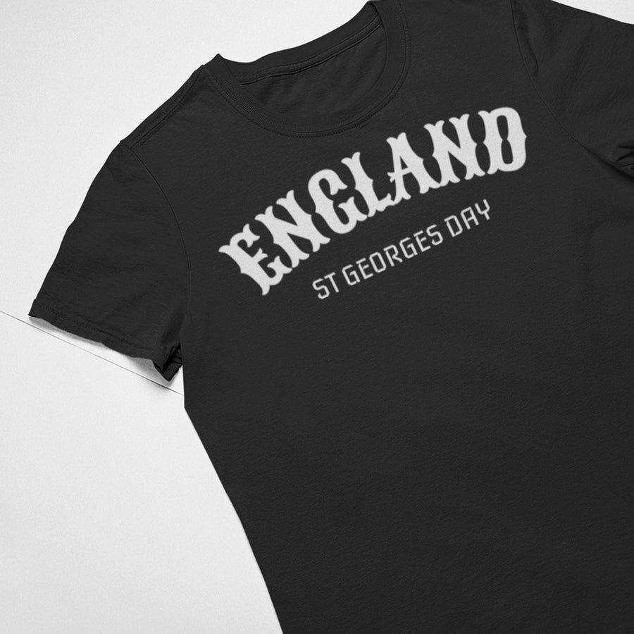 St Georges Day England T Shirt - Saint George Knight Dragon Medieval Tee