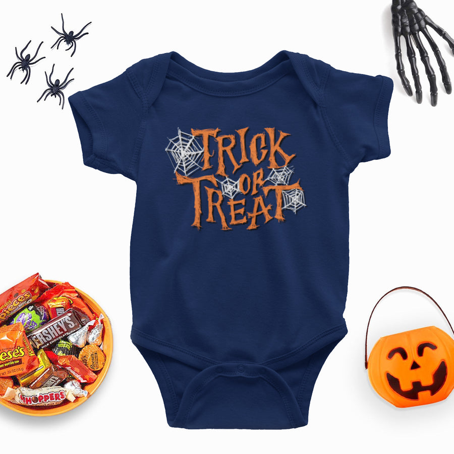 Trick Or Treat Babygrow - Newborn Babies 1st Halloween - Cute Halloween Baby Outfit - One-Piece Baby Sleepsuit - Baby Girl or Baby Boy - Baby Clothes Halloween, Baby Shower Gift Idea