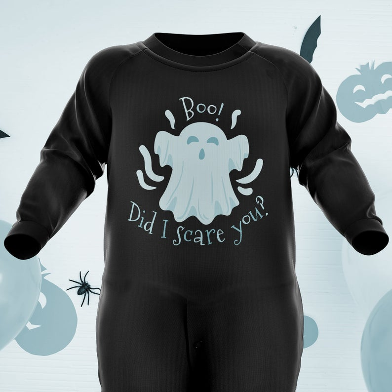 Boo! Did I Scare You? - Baby Halloween Costumes - Halloween Baby Grow Romper Suit - Kids Boys Girls Ghost Costume - Babies Halloween Gifts