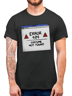 Error 404 Costume Not Found Halloween T Shirt - Fancy Dress Party Tshirt- Easy And Simple Halloween Costume For Kids Or Adults - Gift Idea In All Sizes