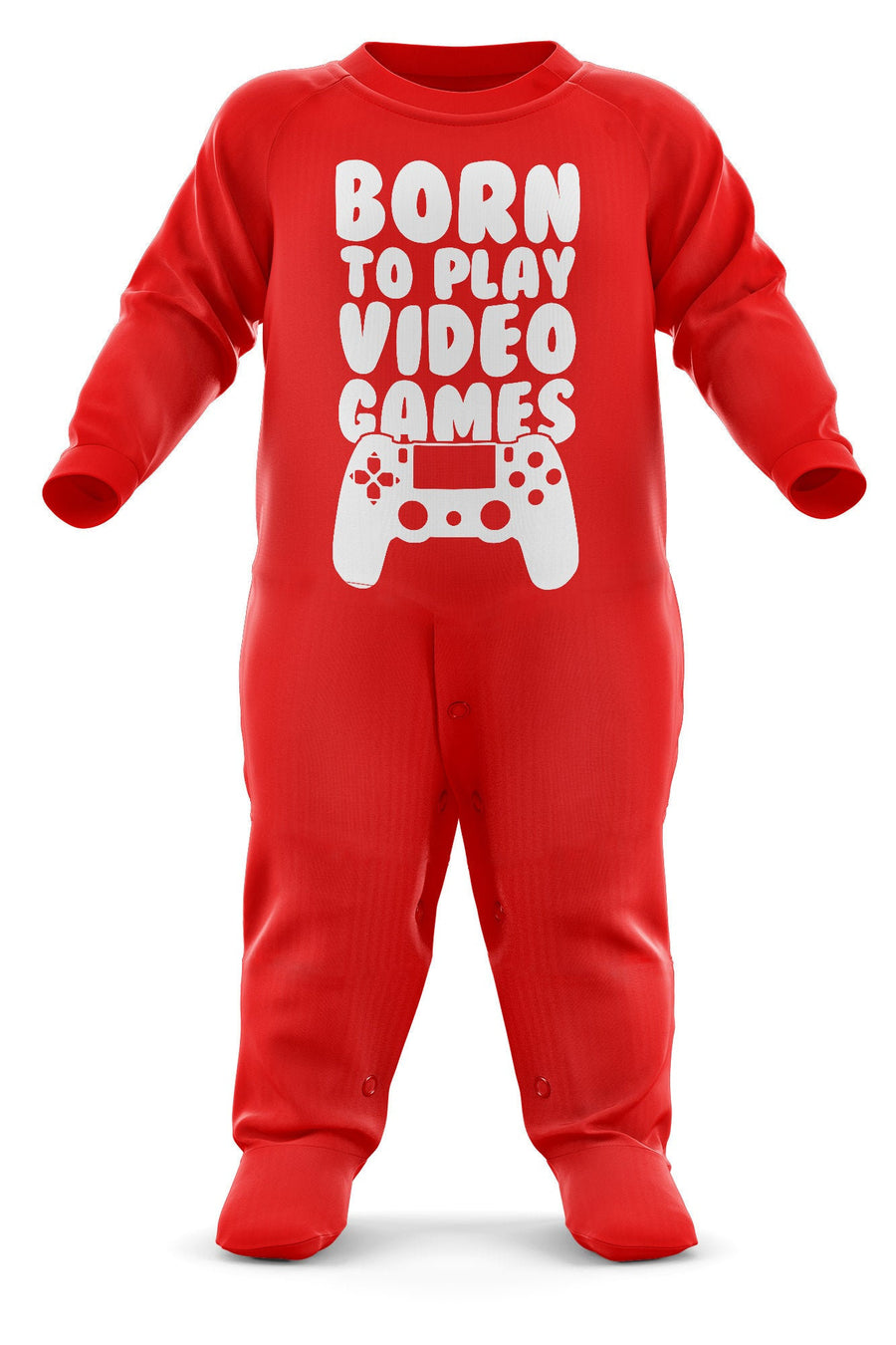 # Born To Play Video Games Babygrow - Video Games Baby Romper Suit - Babies Video Game Christmas Gift - Birthday Present - Newborn Romper