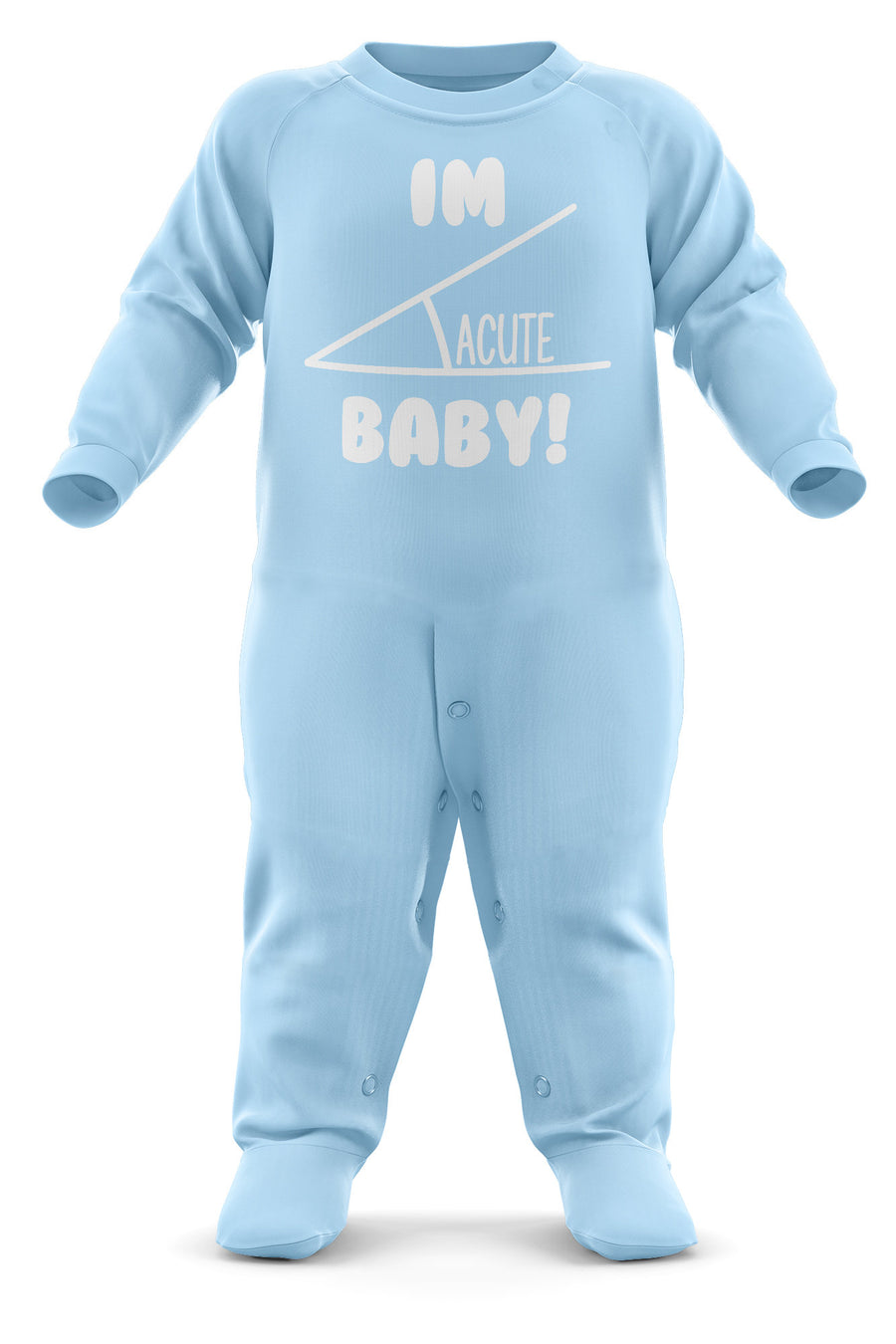I'm ACUTE Baby Romper Suit - Babygrow Baby Newborn Gifts - First Birthday/Christmas - Funny Nerdy Baby Sleepsuit