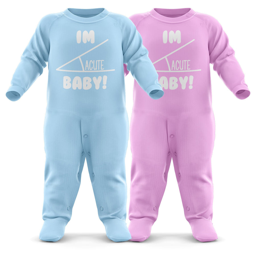 # Im Acute Baby Romper Suit - Babygrow Baby Newborn Gifts - First Birthday/Christmas - Funny Nerdy Baby Sleepsuit