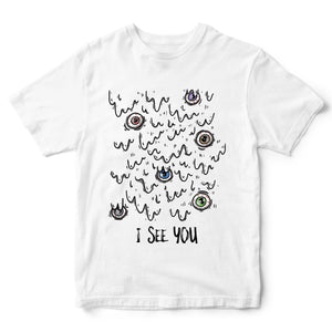 # I See You Slime Eyes T Shirt - Halloween Tee Gift Idea For Kids - Easy & Simple Halloween Costume Idea