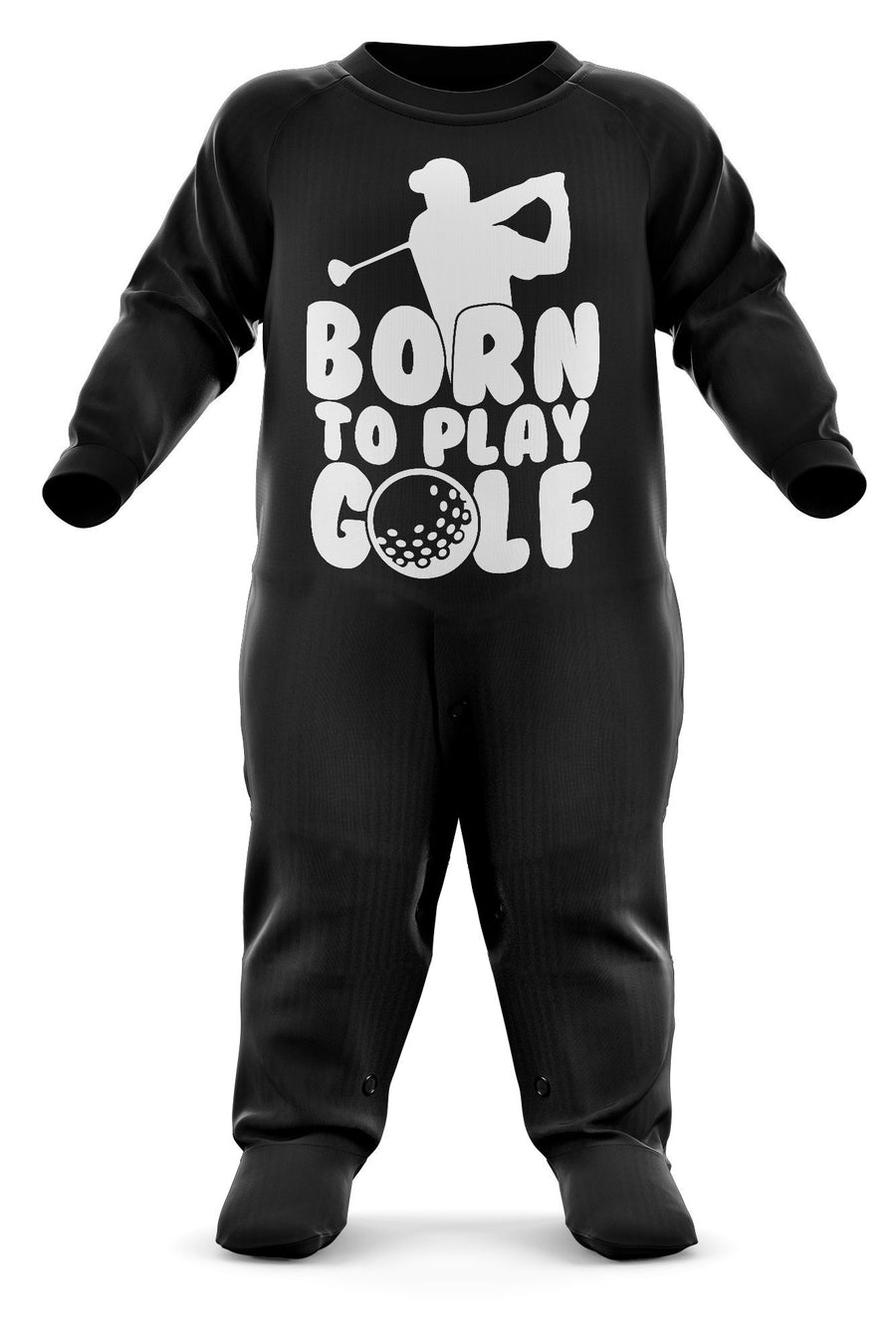 Born To Play Golf Babygrow - Golfer Baby Romper Suit - Babies Golf Christmas Gift - Birthday Present - Newborn Romper