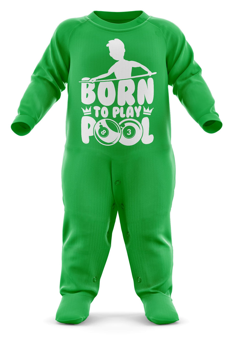 Born To Play Pool Babygrow - Pool Baby Romper Suit - Billiards Babies First Christmas Gift - Birthday Present - Newborn Romper