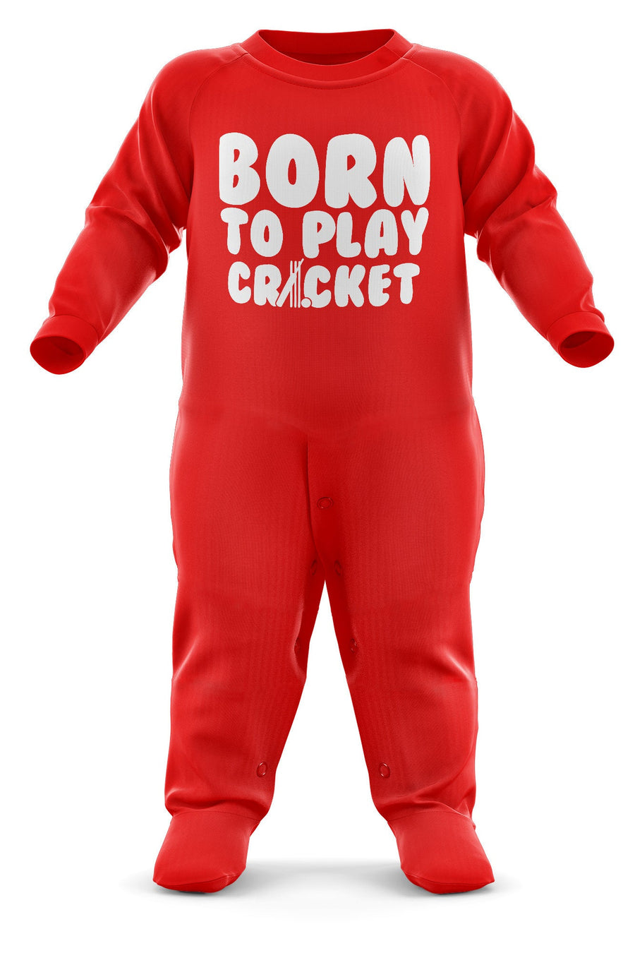Born To Play Cricket Babygrow - Cricket Baby Romper Suit - Babies Cricket Christmas Gift - Birthday Present - Newborn Romper