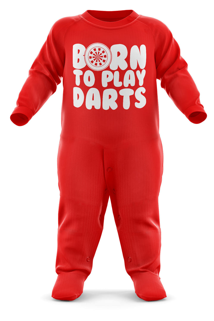 Born To Play Darts Babygrow - Darts Baby Romper Suit - Babies Darts Christmas Gift - Birthday Present - Newborn Romper