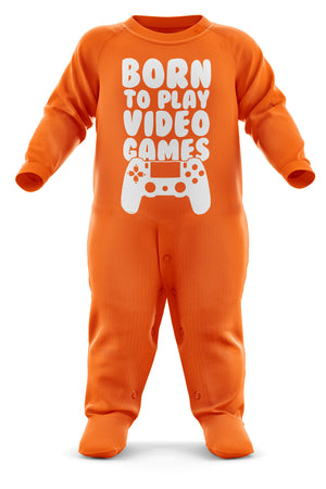 Born To Play Video Games Babygrow - Video Games Baby Romper Suit - Babies Video Game Christmas Gift - Birthday Present - Newborn Romper