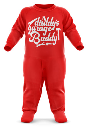 Daddy's Garage Buddy Baby Romper Suit - Babygrow Baby Newborn Gifts - Father And Son/Daughter - Funny Cool Baby Sleepsuit