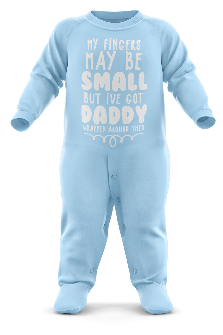My Fingers May Be Small Personalised Baby Grow - Your Name Personalised Baby Romper - Custom Text Babygrow Romper Suit - Custom Name Newborn Baby One Piece