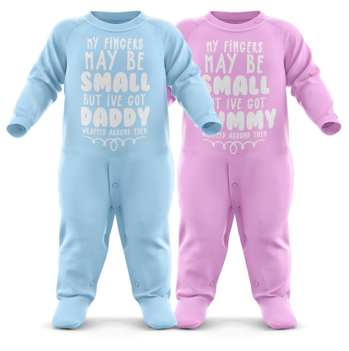 # My Fingers May Be Small Personalised Baby Grow - Your Name Personalised Baby Romper - Custom Text Babygrow Romper Suit - Custom Name Newborn Baby One Piece