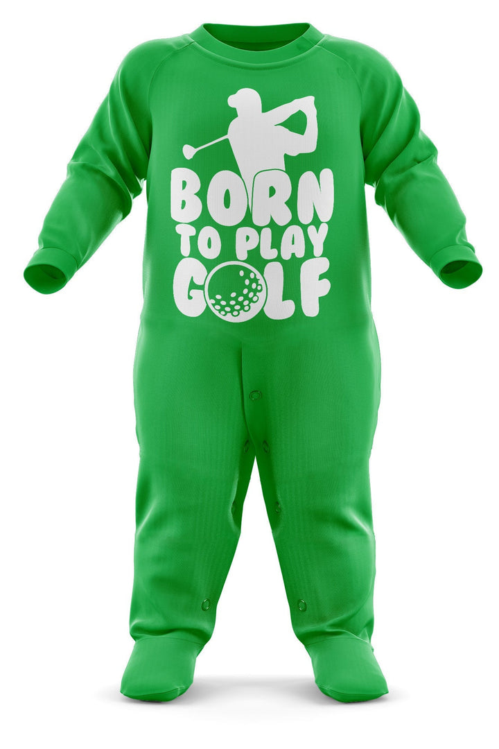 # Born To Play Golf Babygrow - Golfer Baby Romper Suit - Babies Golf Christmas Gift - Birthday Present - Newborn Romper