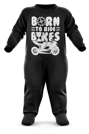 Born To Ride Bikes Babygrow - Motorbike Baby Romper Suit - Motorcycle Baby's First Christmas Gift - Birthday Present - Newborn Romper