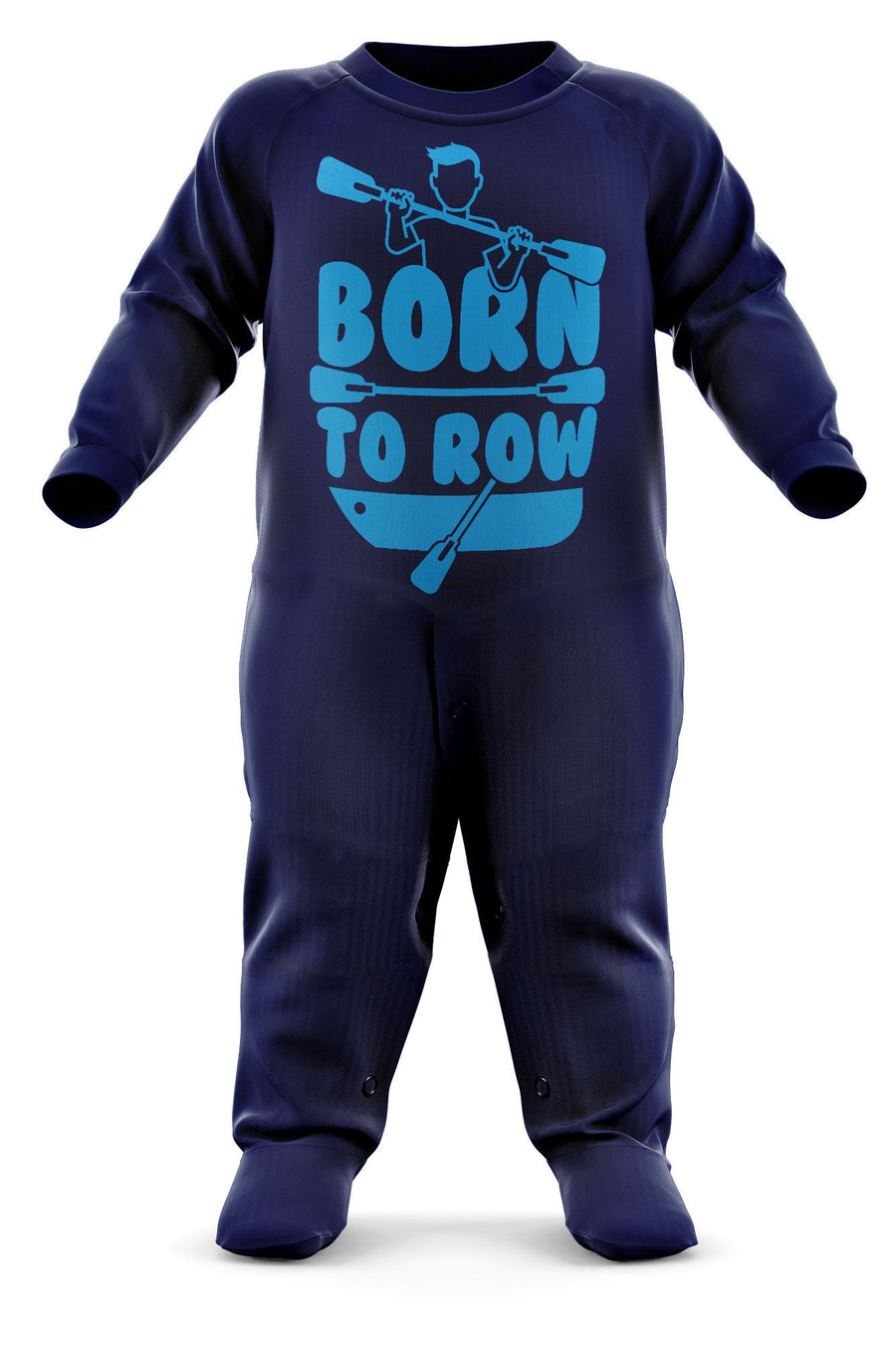 Born To Row Babygrow - Rowing Baby Romper Suit - Future Oarsman's First Christmas Gift - Birthday Present - Newborn Romper