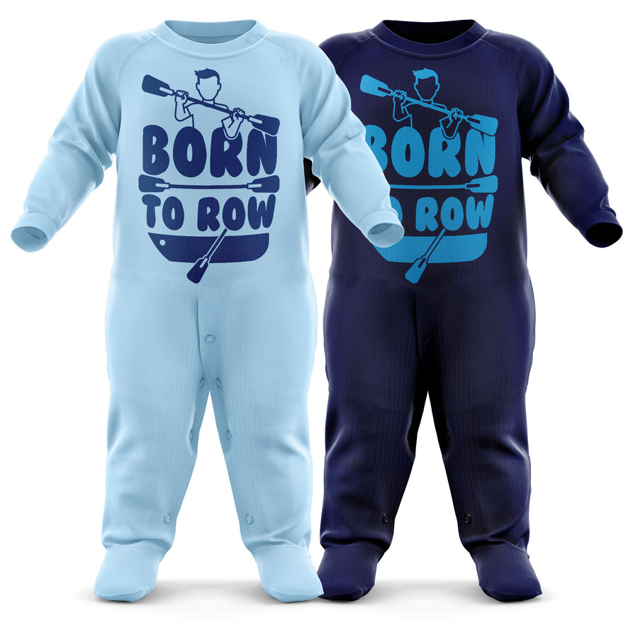 # Born To Row Babygrow - Rowing Baby Romper Suit - Future Oarsman's First Christmas Gift - Birthday Present - Newborn Romper
