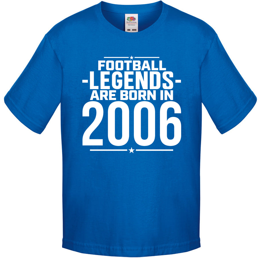 Football Legends Are Born Personalised T Shirt - Custom Kids Soccer Tee - Personalised Birthday Present - Customise To The Year Your Child Was Born In