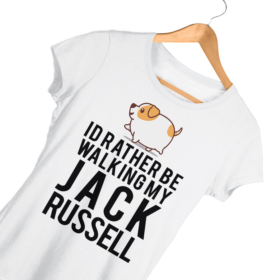 Id Rather Be Walking My Jack Russell T Shirt - Gift Idea