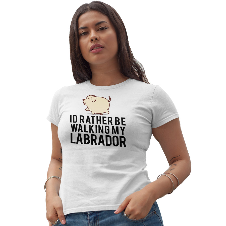 Id Rather Be Walking My Labrador T Shirt - Gift Idea
