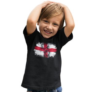 St Georges Day Knight England Flag T Shirt - Saint George Dragon Kids Tee