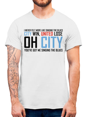 Oh City Football T Shirt - Manchester Derby Supporters Tee