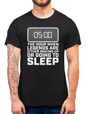 5am The Hour When Legends Are Either Waking Up Or Going To Sleep Gaming T Shirt Gift - Nerdy And Geeky Tshirts Gifts For Gamers - Present For Boys And Girls Who Play Video Games