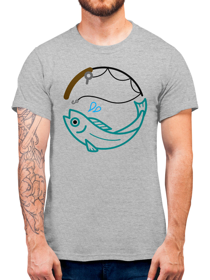 Fishing Ring Fish T Shirt - Gifts For Men Fishing Tackle - Rod & Fish - Mens T-shirts - Fathers Day, Birthday, Christmas Present Idea For Avid Fisherman