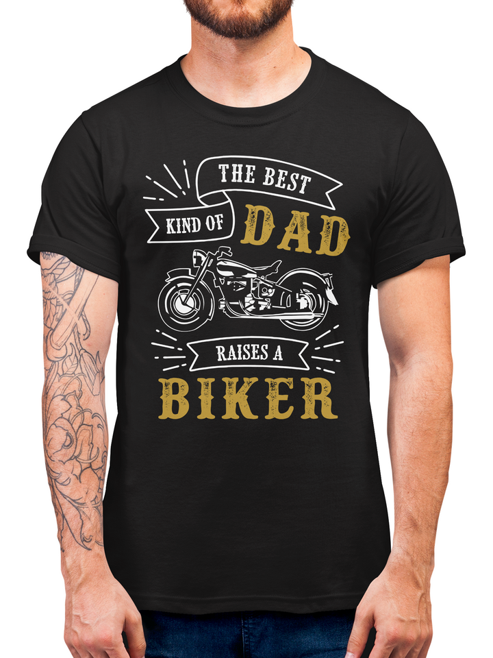 Biker Dad Fathers Day T Shirt Gift Idea -  Present From Young Son or Daughter