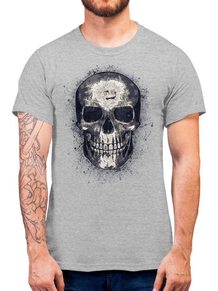 Abstract Skull T Shirt - Skull Biker Tee Gift Idea - Halloween or Casual Tshirt