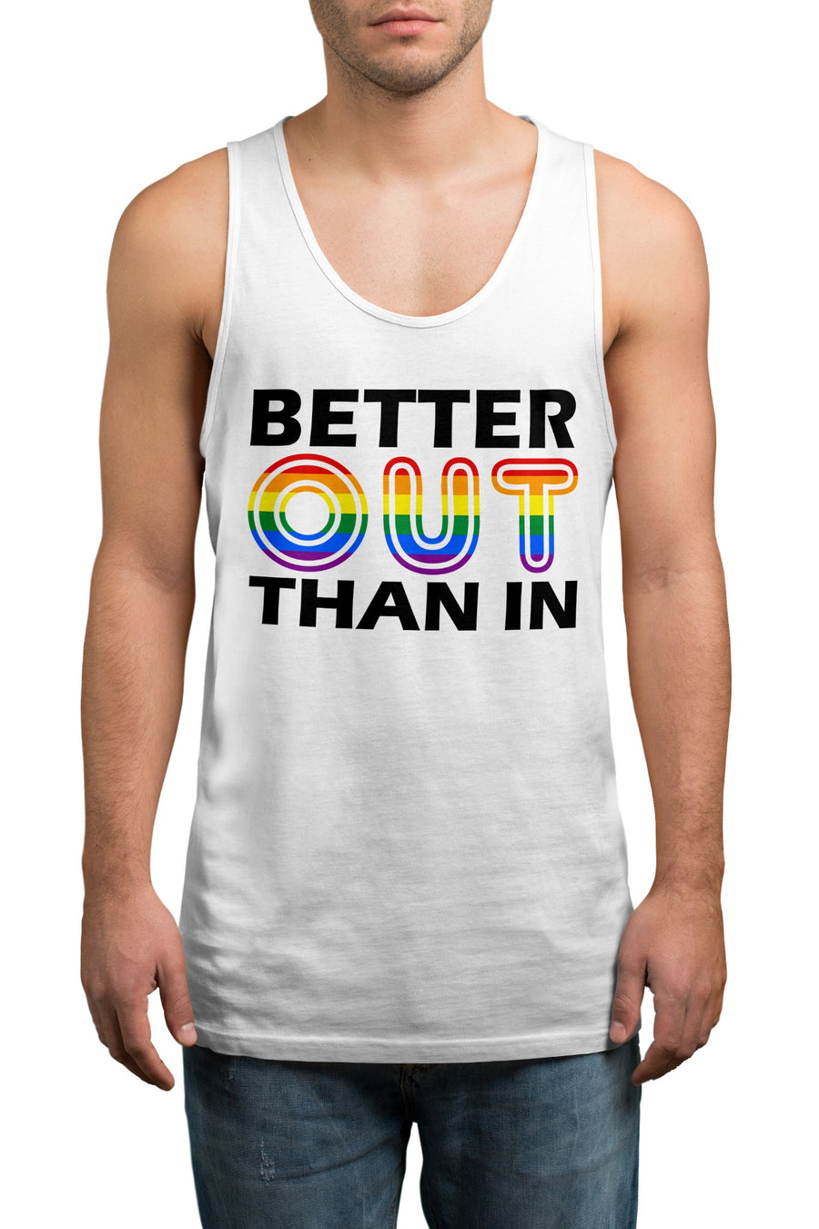 Better Out Than In Gay Pride Vest - Proud LGBT Tank Top