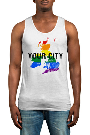 Personalised Gay Pride Vest Top - Tank Top - Celebrate Any Pride Event 2019