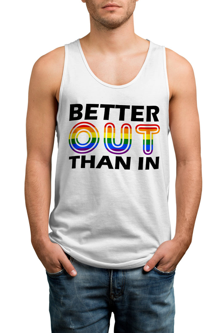 Better Out Than In Gay Pride Vest - Proud LGBT LGBTQ Tank Top For Men, Women